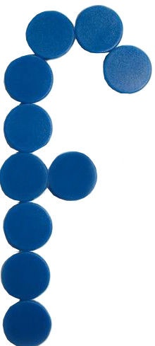 Esselte Magnets For Boards Blue 10PCS/25mm