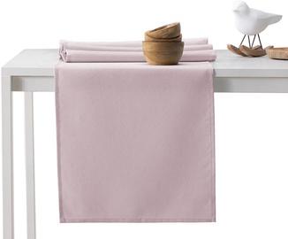 DecoKing Pure HMD Tablecloth PowderPink Set 115x250/35x250 2pcs