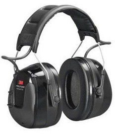 3M WorkTunes Electronic Ear Defenders With Headband Black