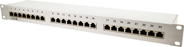 "LogiLink Patch Panel 19"" CAT5e 24-port Shielded"