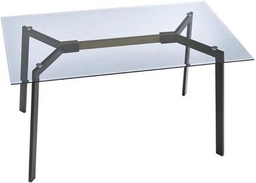 Pusdienu galds Halmar Trax Smoked/Black, 1400x800x750 mm