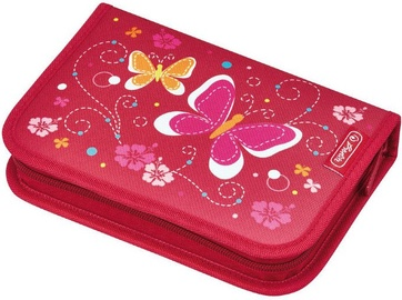 Herlitz Pencil Case Butterfly Red/50008353