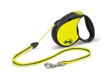 Automātiskā pavada Flexi Neon S 5m, dzeltena