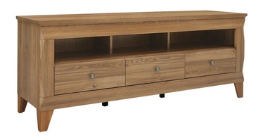 TV galds Black Red White Bergen Sibiu Larch, 1560x470x640 mm
