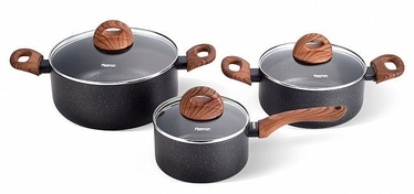 Fissman Black Cosmic Cookware Set 3pcs
