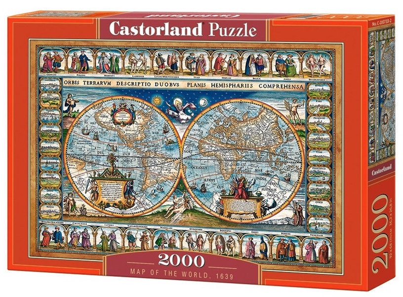 Www Map Of The World.Castorland Puzzle Map Of The World 1693 2000pcs