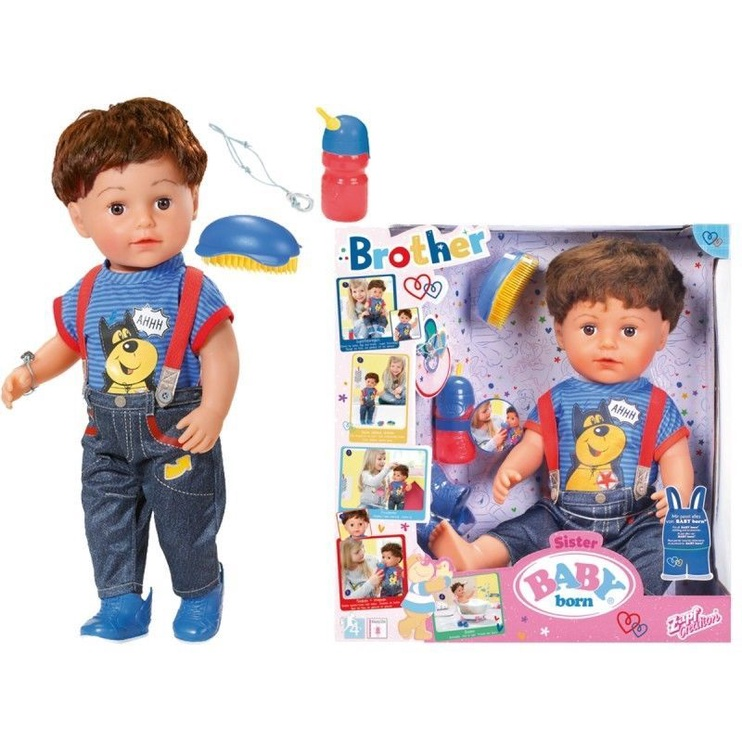 Zapf Creation Baby Born Interactive Doll Brother