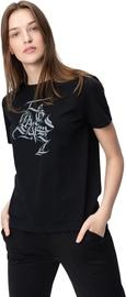 Audimas Womens Short Sleeve Tee Black Grey Printed XL
