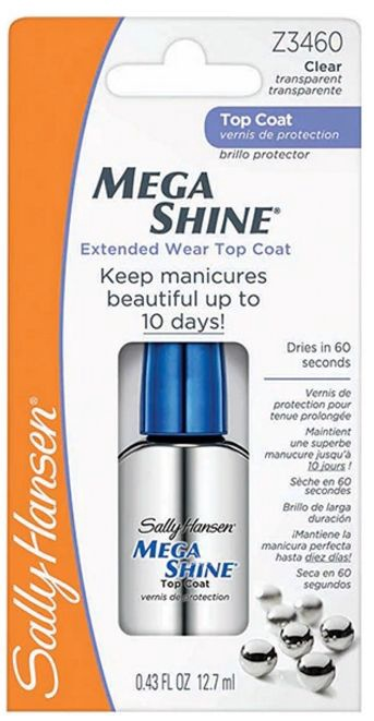 Sally Hansen Mega Shine Quick-Dry Top Coat 12.7ml