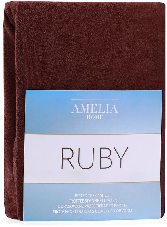Palags AmeliaHome Ruby, brūna, 120x200 cm, ar gumiju