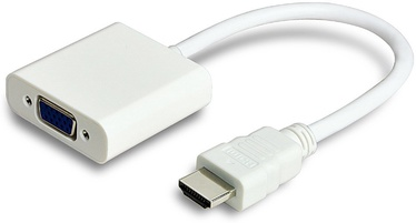 ADAPTER HDMI - VGA M/F, WHITE