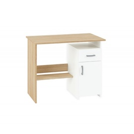 Halmar Writing Desk Fabri Oak White