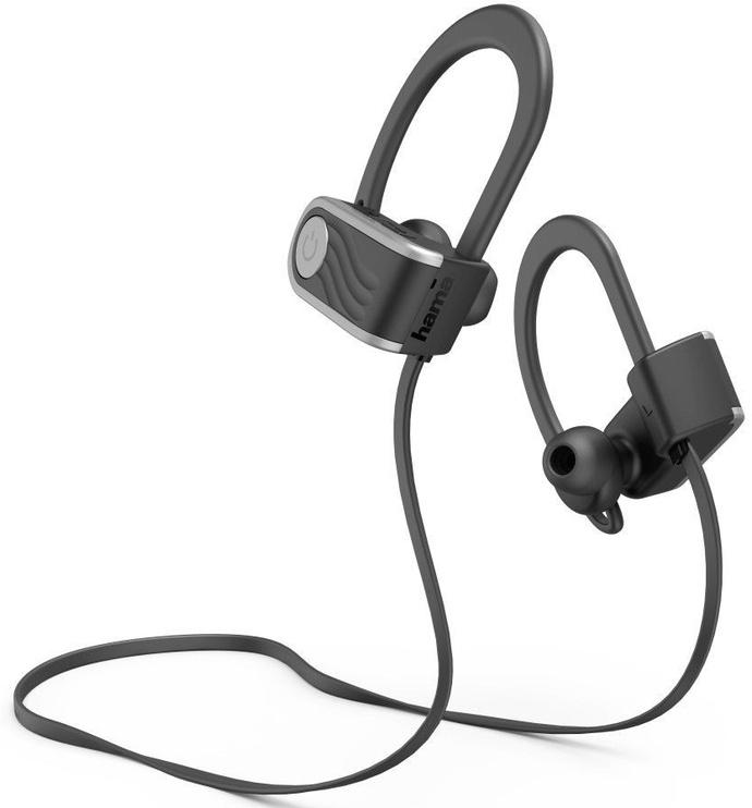 Ausinės Hama Voice Sport Black/Silver, belaidės