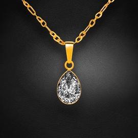Diamond Sky Pendant Crystal Drop Black Patina With Crystals From Swarovski