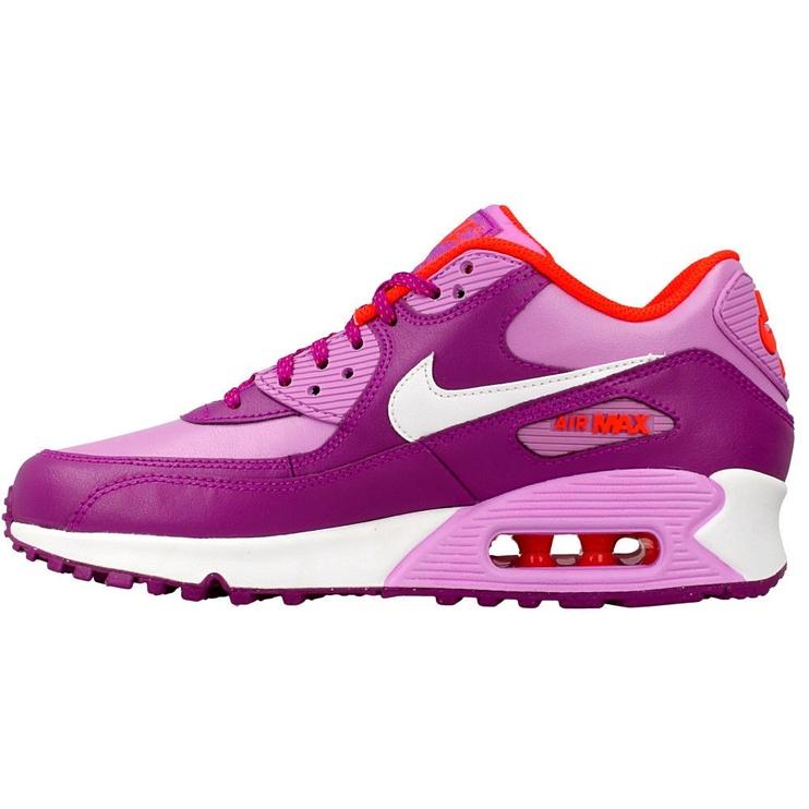 Nike Sneakers Air Max 90 Gs 724852-501 Purple 38.5