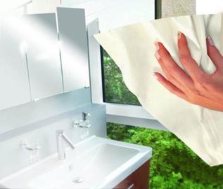 Veidrodžių stiklo šluostė Leifheit Ecoperfect, kreminė