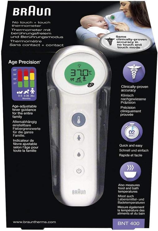 Braun No Touch + Touch Forehead Thermometer BNT400