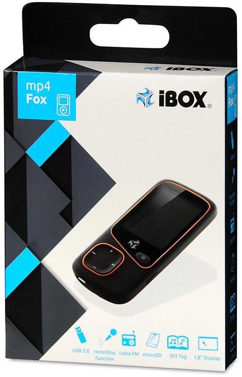 Музыкальный проигрыватель iBOX Fox Black, 4 ГБ