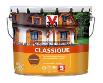 Medienos impregnantas V33 Classique, raudonmedžio spalvos, 10 l