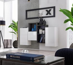 ASM Blox SB III Hanging Cabinet Set White/Black