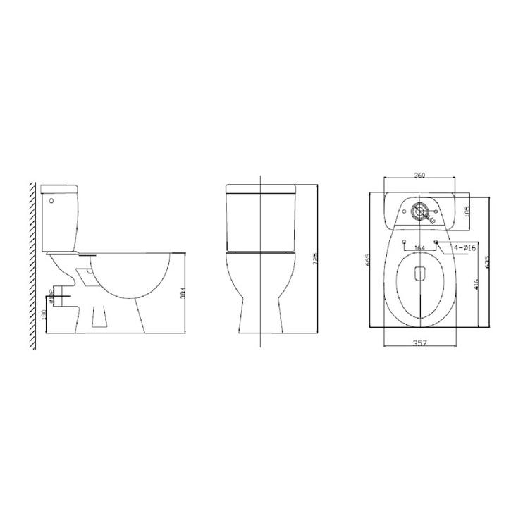 Tualetes pods WC NR-21VA, ar skalojamo kasti un vāku