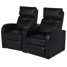 Диван VLX Home Cinema Recliner Reclining, черный, 151 x 85 x 103 см