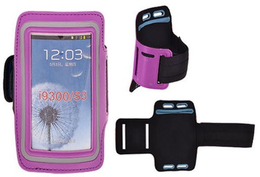 Telone Universal 7-13.7 Armband Pouch Case For Fitness Violet