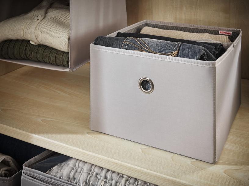 Leifheit Cloth Box Big Box 27.5x28x19cm Grey/Combi System