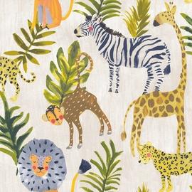 Flizelino pagrindo tapetas, Ecodeco, LO2201, baltas su gyvūnais