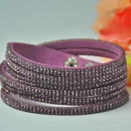 Vincento Bracelet Double Crystalsnake LB-1043
