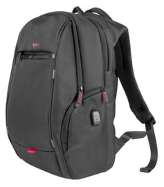 "Natec Notebook Backpack+USB 15.6"" Black"