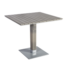 Home4you Larache Garden Table 80x80x75cm Grey