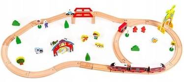 EcoToys Wooden Track Train Set