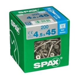 SKRŪVES KOKA A2 4,5X45 TX 200 GAB (SPAX)