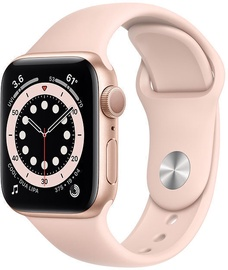 Nutikell Apple Watch Series 6 GPS LTE 40mm Aluminum Case Pink Sand Sport Band, kuldne