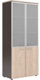 Skyland Xten XHC 85.7 Office Cabinet 85.6x195.5x43.2cm Beech Tiara/Dark Wood