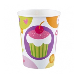 Gimtadienio puodeliai su keksiuku, 8 vnt