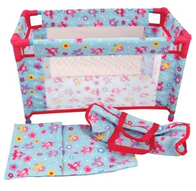 Dolls World Travel Cot For Dolls Up To 46cm 016-08201