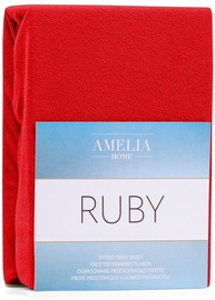 AmeliaHome Ruby Frote Bedsheet 80-90x200 Red 24