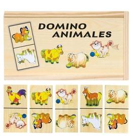 Galda spēle Woody Domino Farm Animals 28pcs 90092, EN/EE/LV/LT/RUS
