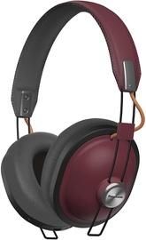 Ausinės Panasonic RP-HTX80BE Bluetooth Over-Ear Red, belaidės