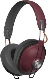 Ausinės Panasonic RP-HTX80BE Bluetooth Over-Ear Red, belaidės