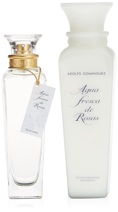 Adolfo Dominguez Agua Fresca de Rosas 120ml EDT + 300ml Body Lotion