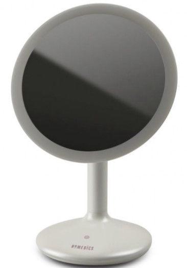 Meigipeegel Homedics Touch & Glow Beauty Dimmable MIR-SR820 White, valgustusega, teisaldatav, 19.3x27.4 cm