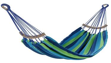 Šūpuļtīkls AmeliaHome Lazara, zila/zaļa, 240 cm