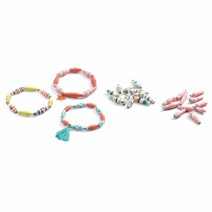 Djeco For Older Children Paper Creation Spring Braclets Paper Beads