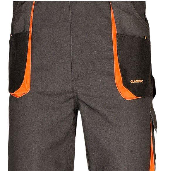 Art.Master Classic Working Bib Pants Grey/Orange 60