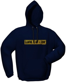 GamersWear Not A Crime Hoodie Navy M