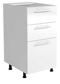 Virtuvinė spintelė Vento D3S-40/82, balta / pilka