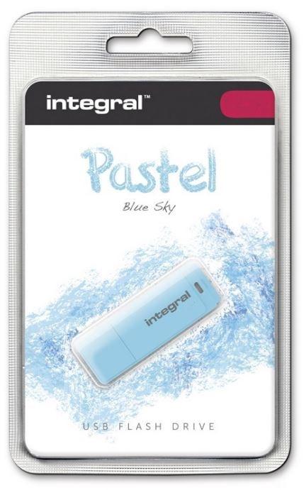 USB atmintinė Integral Pastel Blue Sky, USB 2.0, 32 GB